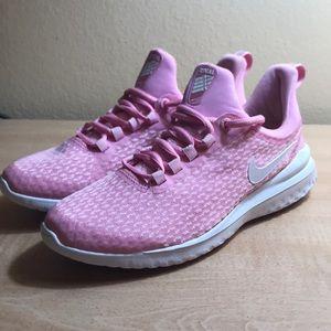 Nike women's renew rival pink rise/white pink foam